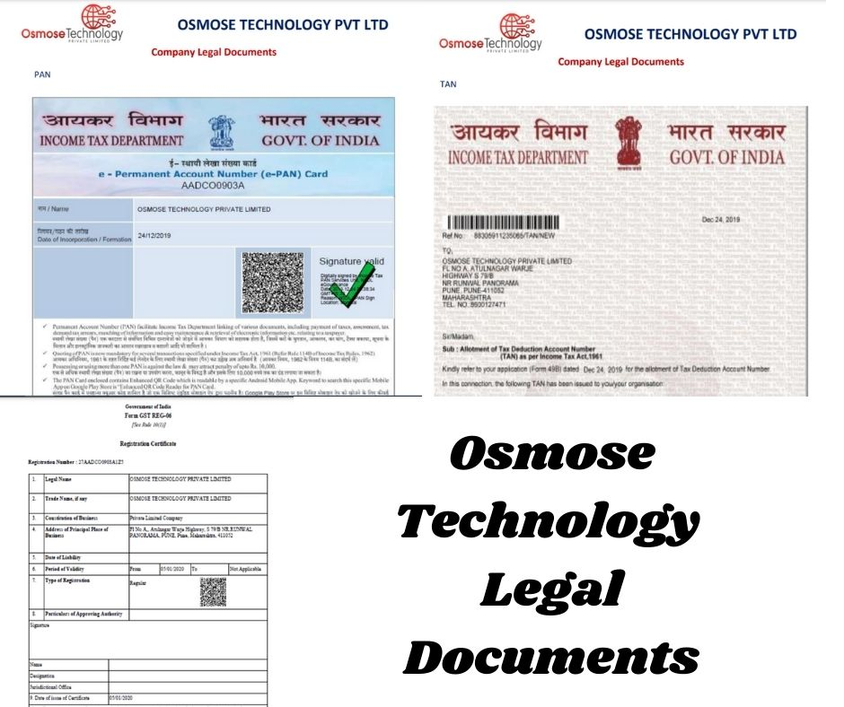 Osmose Technology legal documents